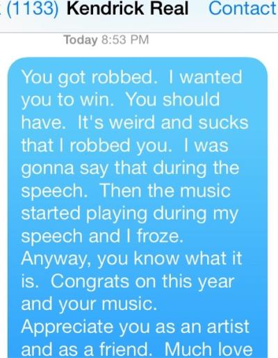 Macklemore Text