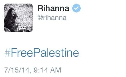 """Rihanna """"Free Palestine"""" Tweet Posted, Deleted Immediately With No Explanation"""