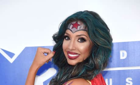 Farrah Abraham Flexes Close-Up VMAs 2016