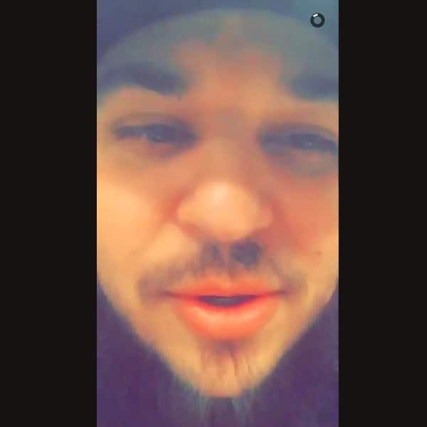 Rob Kardashian on Snapchat