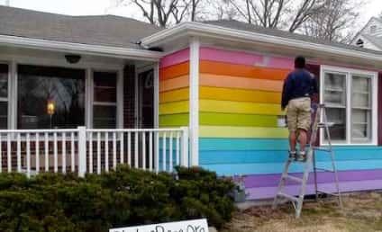 "Westboro Baptist Church Neighbor Buys, Paints Rainbow ""Equality House"" Next Door"