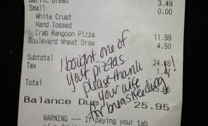 Mom Gets Free Pizza From Waitress For Breastfeeding in Public