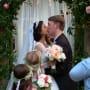 Michael jessen kisses the bride juliana custodio