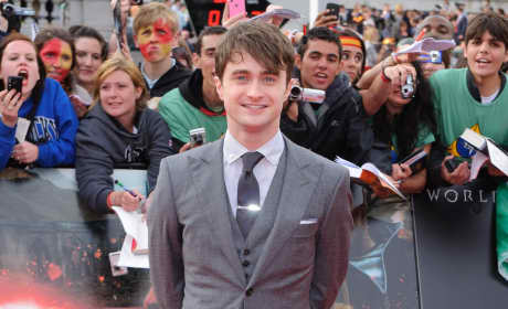 Who looked more dashing at the Harry Potter premiere?