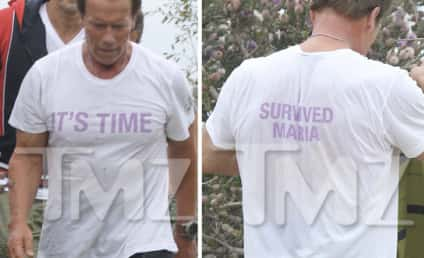 Arnold Schwarzenegger: Dissing Maria Shriver Hard With T-Shirt?