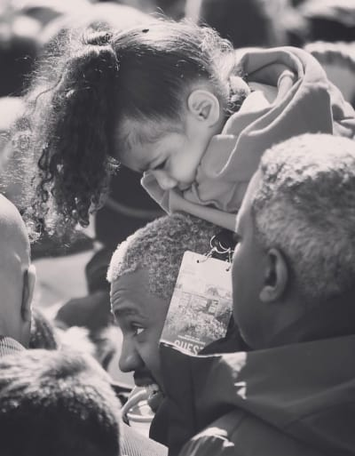 Kanye West with Daughter