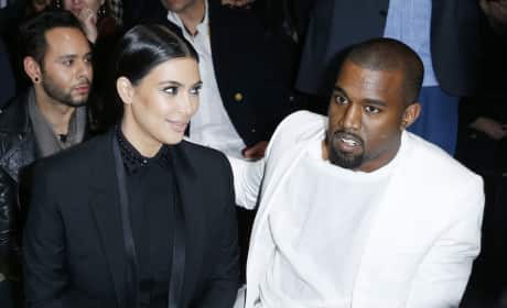 Kim Kardashian and Kanye West: Givenchy Autumn/Winter 2013 Show