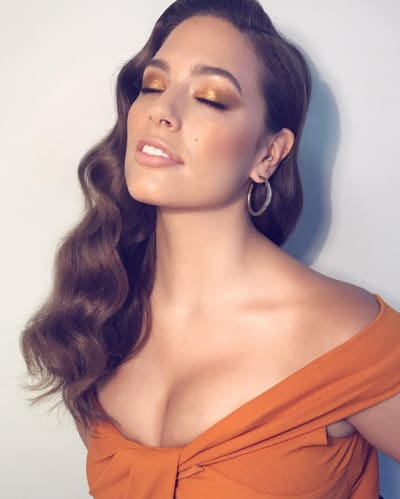 Ashley Graham in Orange