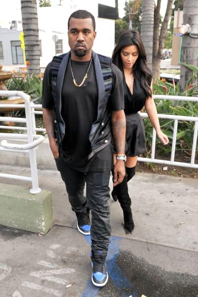 Kanye West with Kim K