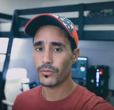 Mohamed Jbali in His America Hat