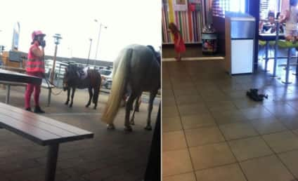 Horse in McDonald's Turned Away at Drive-Thru, Poops on Floor