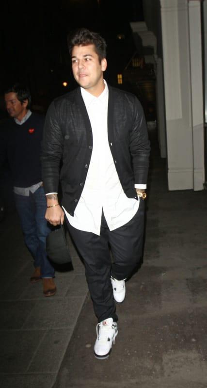 Rob Kardashian on the Street