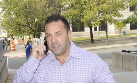 Joe Giudice on the Phone