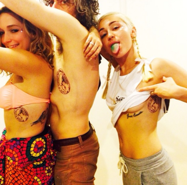 Miley Cyrus Tattoo Photo