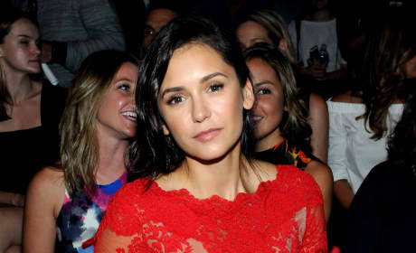 Nina Dobrev at a Fashion Show