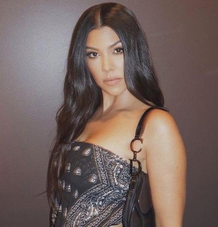Kourtney Kardashian, bastante de cerca