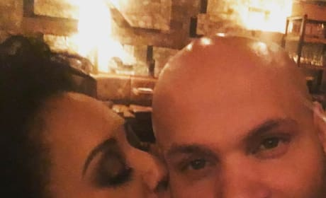 Melanie Brown Smooches Stephen Belafonte