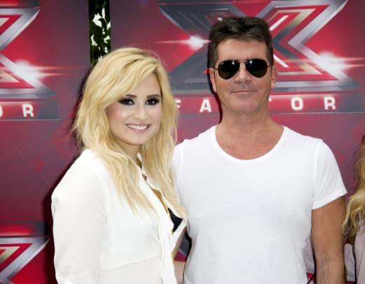 Demi Lovato with Simon Cowell