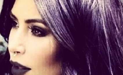 Kim Kardashian Rocks Nose Ring, Purple Hair In Latest Weird Selfie