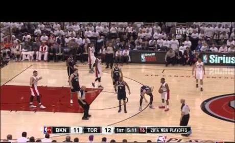 Drake Uses Lint Roller at Raptors Game