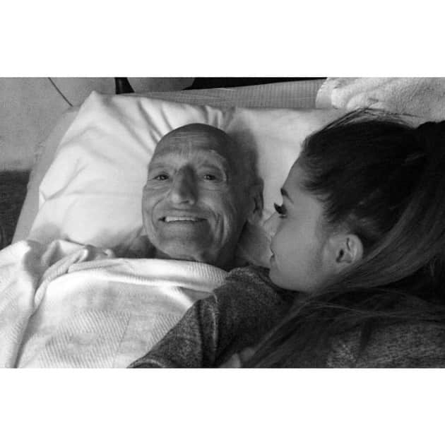 Ariana Grande and Grandfather