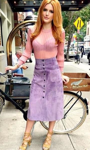 Bella Thorne and Her Bike