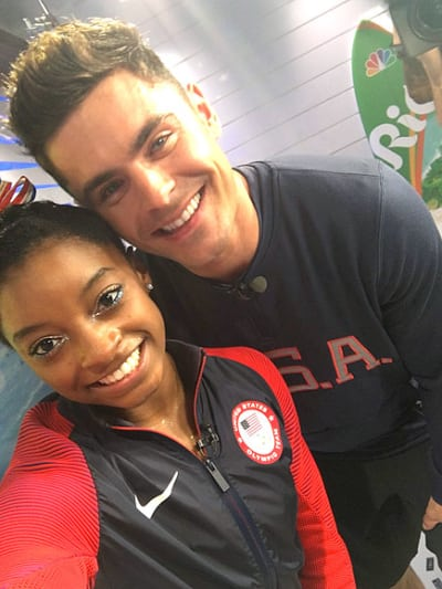 Zac Efron and Simon Biles