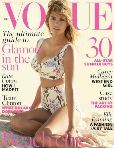 Kate Upton Vogue UK Cover