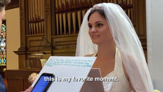 Julia Trubkina voiceover as Brandon reads vows - this is my favorite moment