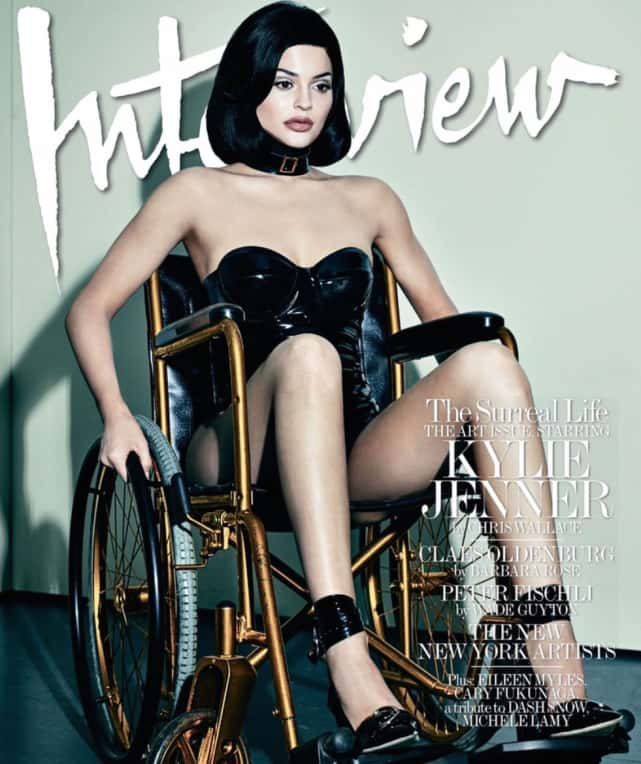 Kylie Jenner in a Wheelchair