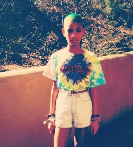 Willow Smith with Green Hair
