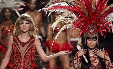 Taylor Swift and Nicki Minaj on Stage