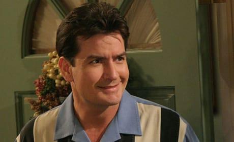 Charlie Sheen in a Bowling Shirt