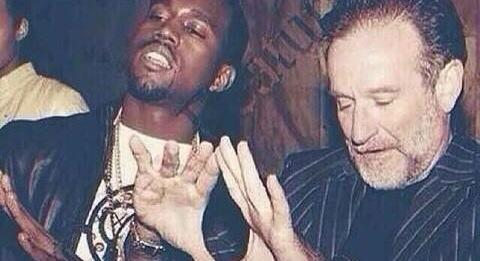 Robin Williams and Kanye West Photo