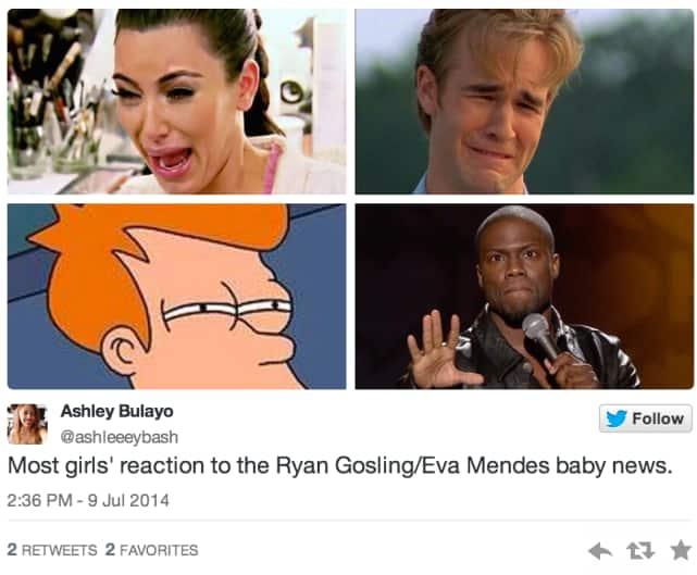 A range of emotions.