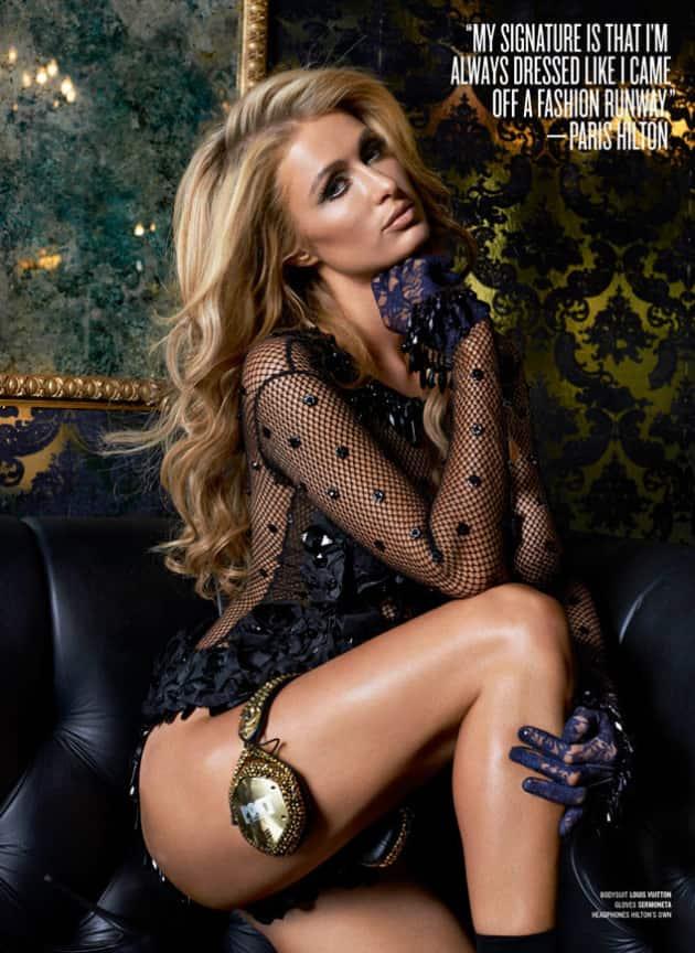 Paris Hilton for V