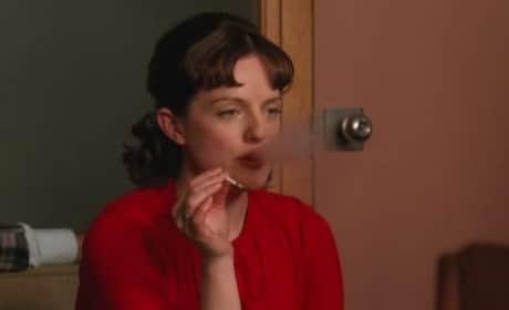 Peggy Olson Smokes Weed