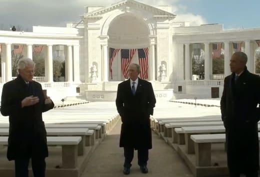 Bill Clinton, Barack Obama, and George W. Bush