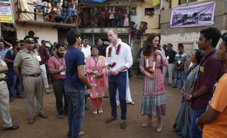 William and Kate Met SMILE Reps in Mumbai