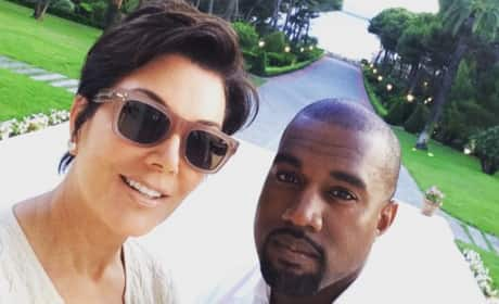 Kris Jenner Takes a Selfie with Kanye West