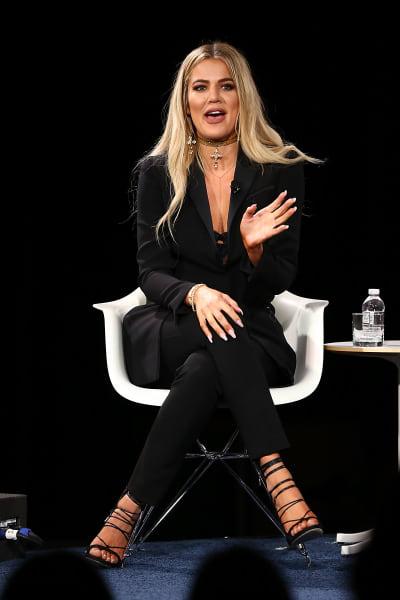 Khloe Kardashian Speaks on Stage