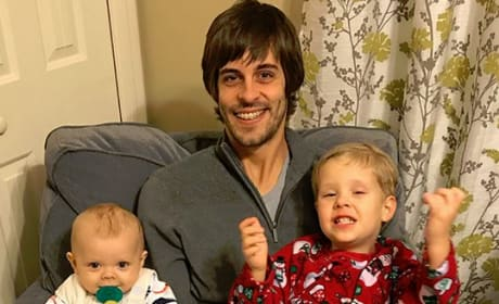 Derick Dillard and his boys on Christmas