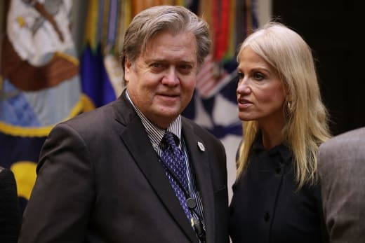 Steve Bannon and Kellyanne Conway