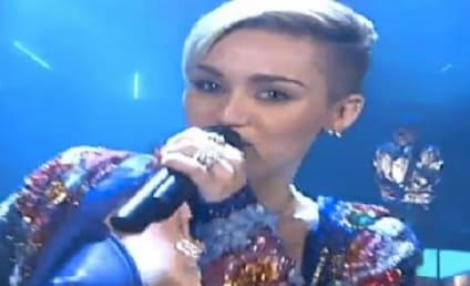 Miley Cyrus Dances with Twerking Dwarfs on German TV Show