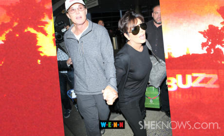 Kris and Bruce Jenner Holding Hands!