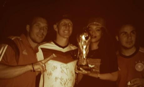 Rihanna With the World Cup!