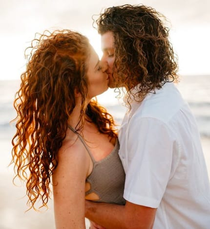 Audrey Roloff and Jeremy Roloff Kiss