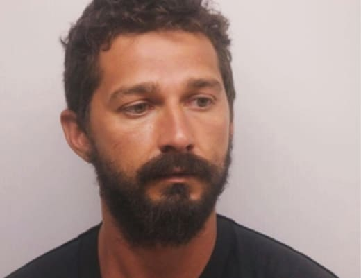 Shia LaBeouf Upset In Mug Shot