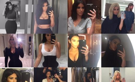 Kim Kardashian Cleavage Selfies