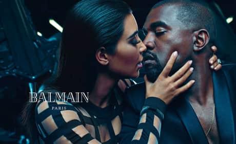 Kim Kardashian, Kanye West Balmain Ad